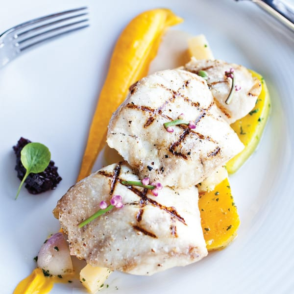 Grilled Cobia with Roasted Root Vegetables