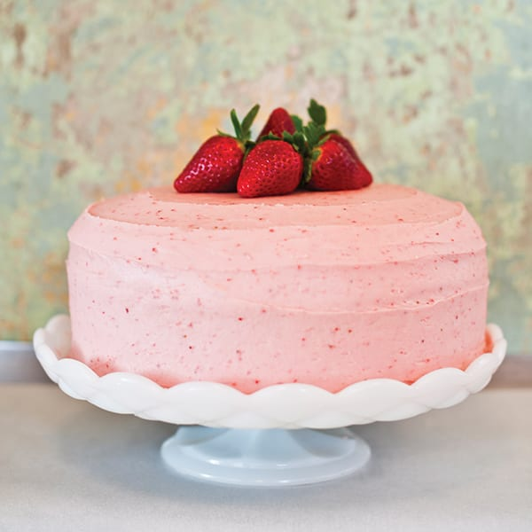 Strawberry Filled Cake with Fresh Strawberry Buttercream