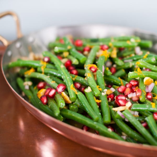 Green Beans in Pomegranate Vinaigrette with Chestnuts