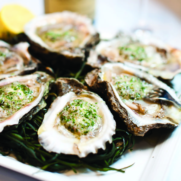 Broiled Oysters on the Half Shell with Fines Herbs