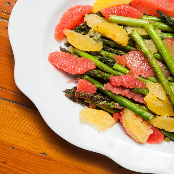 Grilled Asparagus with Backyard Citrus