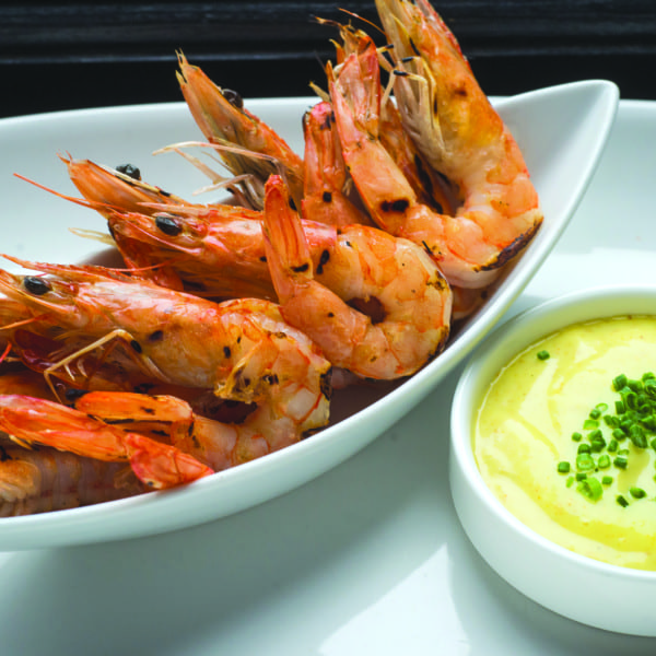 Grilled Local Shrimp with Curry Mayonnaise