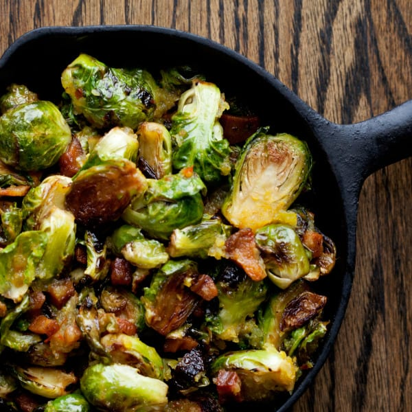 Benton's Bacon Roasted Brussels Sprouts with Chow Chow Vinaigrette