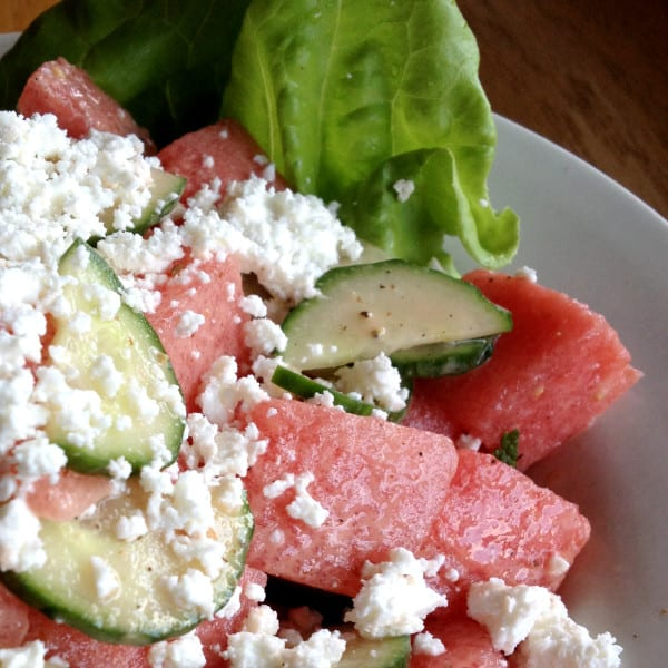 Watermelon Mint Feta Salad