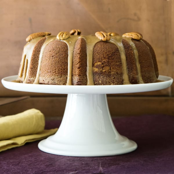 Apple Cider Pound Cake with Cider Caramel Sauce