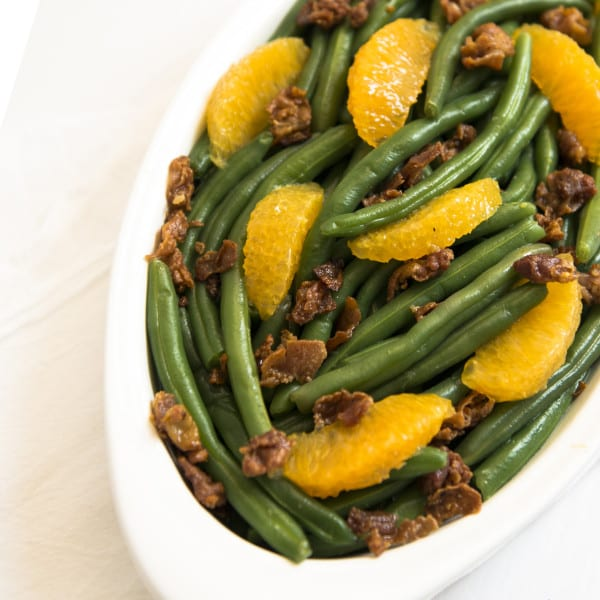Green Beans with Tangerine Brown Butter and Bacon