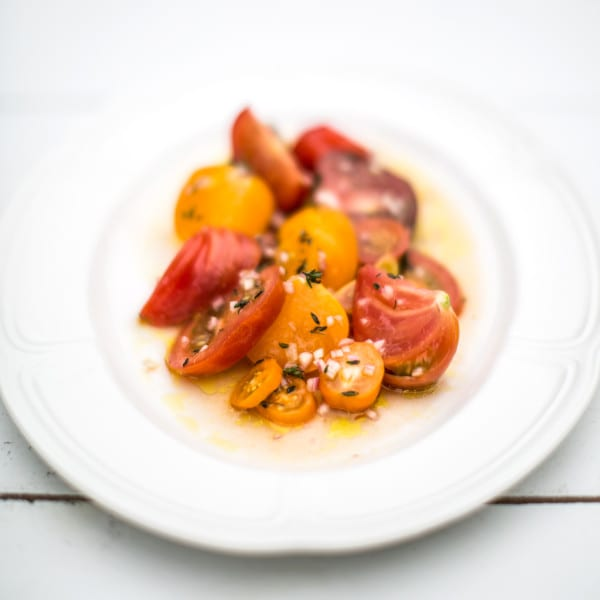 Tomatoes in Vinaigrette