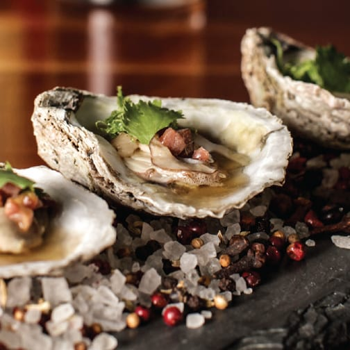 Bourbon Brown Butter Oysters