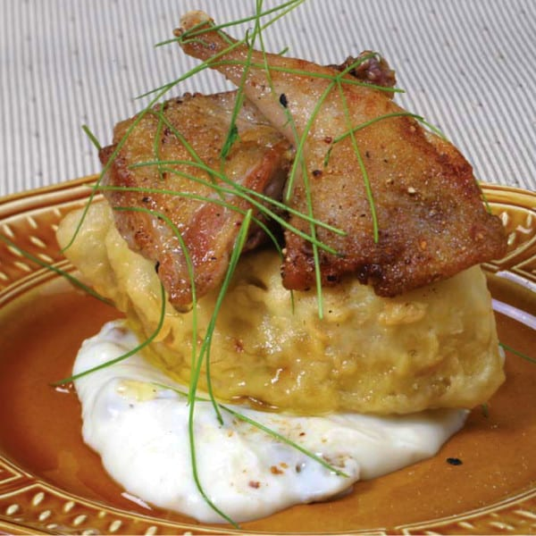 Carolina Quail with Country-Fried Foie Gras and Sawmill Gravy