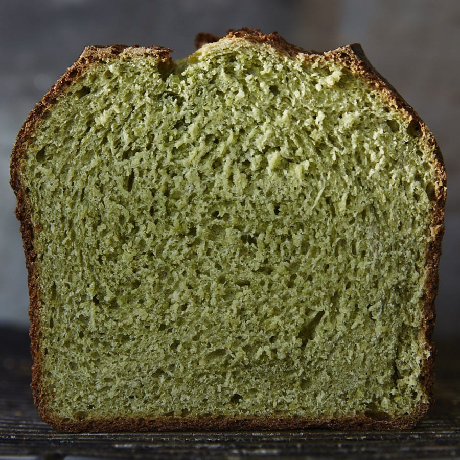 Green Pea and Matcha Bread