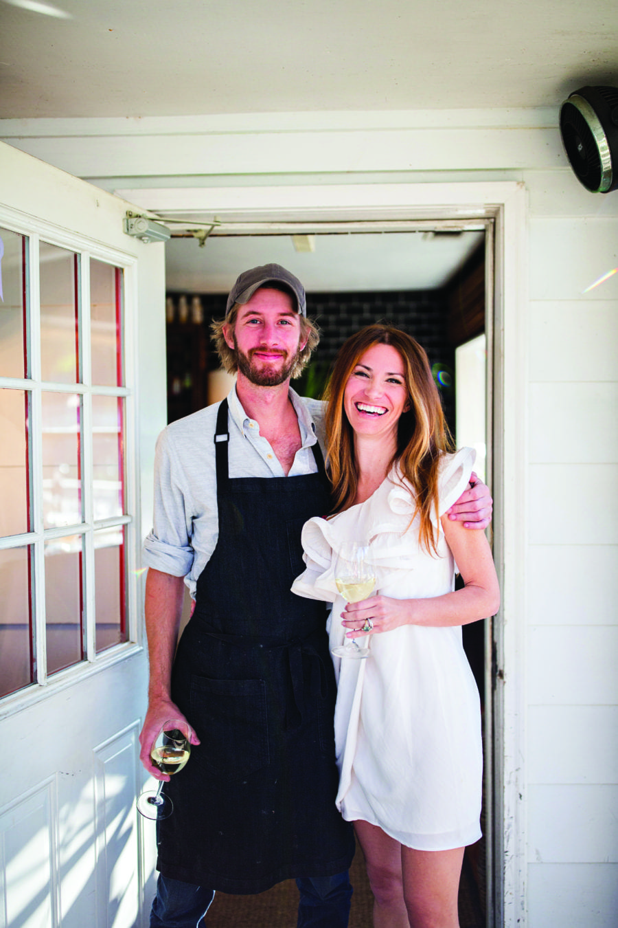 Chef Kurt Schumm of Tybee Island Fish Camp with his wife Sarah