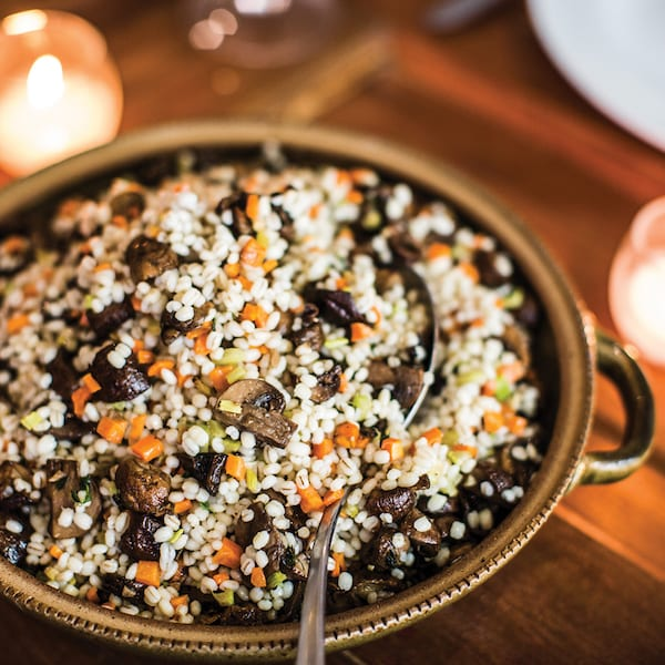 Roasted Mushroom and Barley Salad