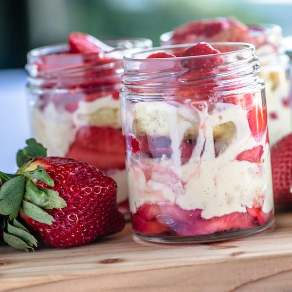 Strawberry and Grand Marnier Shortcake Trifle