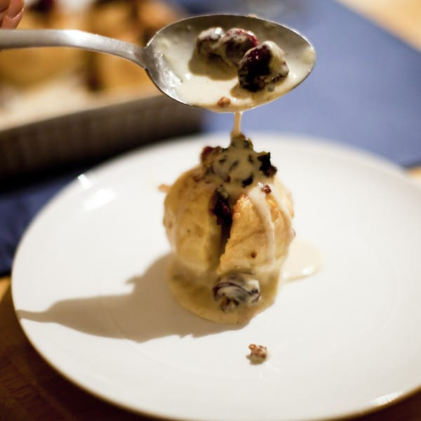 Baked Stuffed Apples with Crème Anglaise
