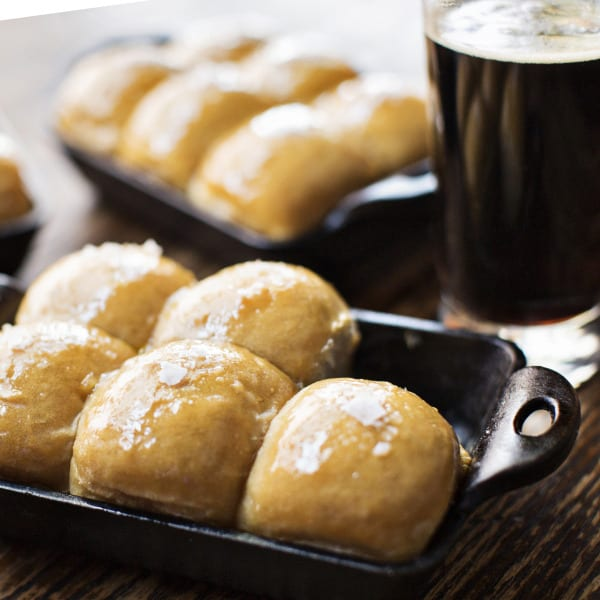 Sweet Stout Parker House Rolls
