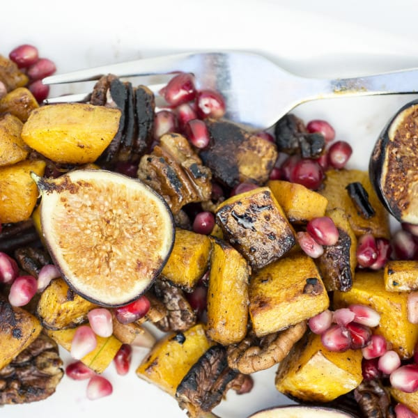Butternut Squash and Pomegranate Salad