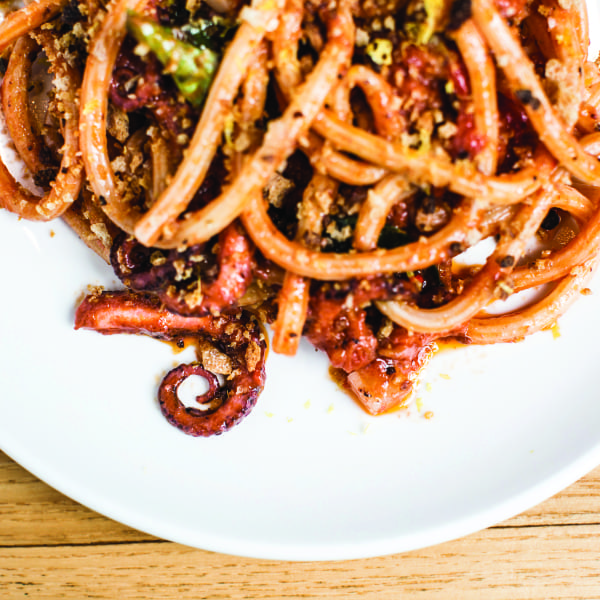 Bucatini Fra Diavolo with Octopus and Breadcrumbs