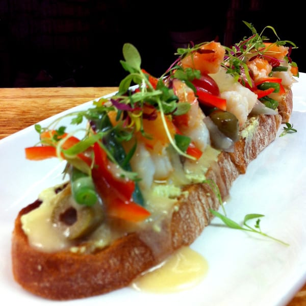 Shrimp Tartine