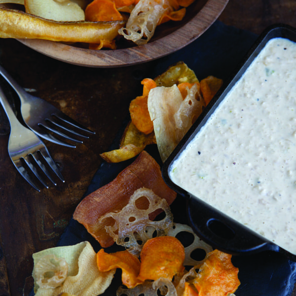 Bourbon-Candied Ginger and Onion Dip