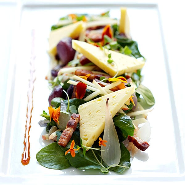 Stayman Apple Salad with Grayson Cheese and Hickory Smoked Bacon
