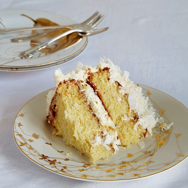 Coconut Cake with Coconut Buttercream Frosting