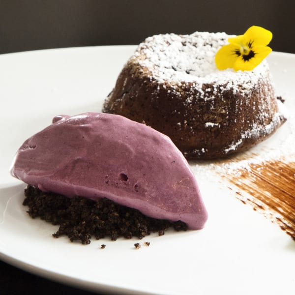 Chocolate-Corn Lava Cake