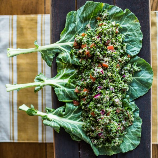 Collard Green and Quinoa Tabbouleh