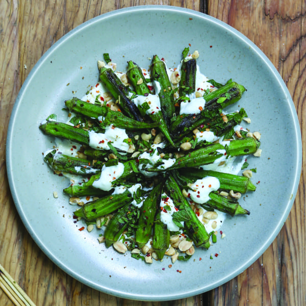 Grilled Spiced Okra