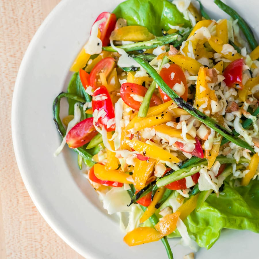 Green Peach Salad with Thai Chili and Lime