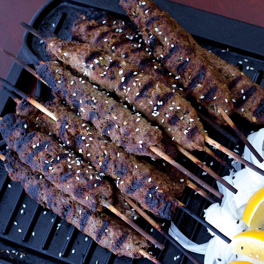 Seekh Kebabs from Chef Vishwesh Bhatt of City Grocery Restaurant group in Oxford, Mississippi