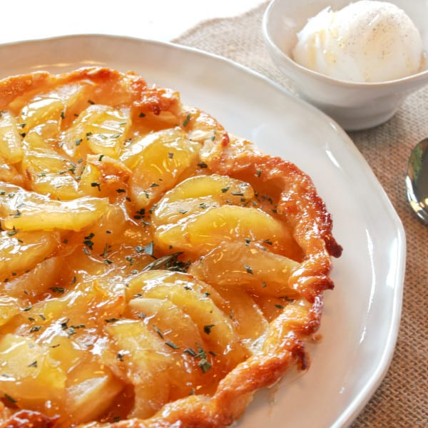 Apple Rosemary Tarte Tatin