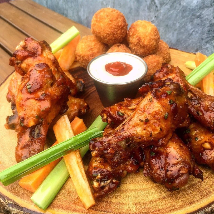 5 Church Chili Lime + Cholula Chicken Wings with Peppadew Poppers