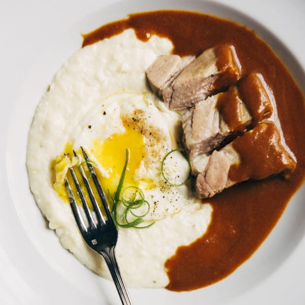 Pork Shoulder Grillades and Grits