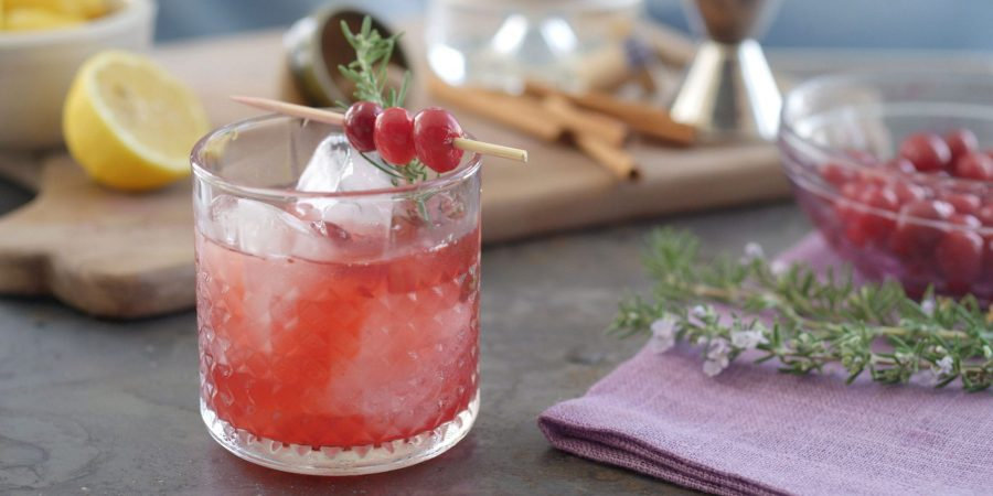 Rosemary Cranberry Gin Cocktail