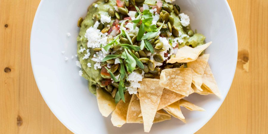 Guacamole with Queso Fresco and Pepitas