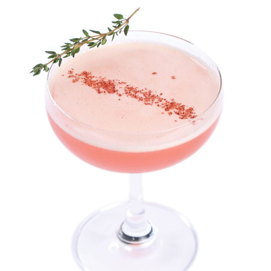 Mimosa Cocktail with Sumac Tincture