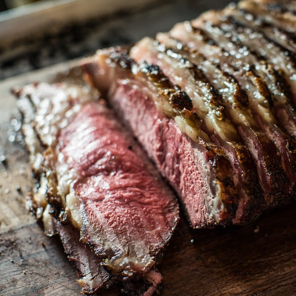 Grilled Strip Roast with Grilled Butternut Squash and Béarnaise
