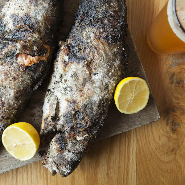 Ember-Cooked Trout Stuffed With Sumac and Thyme