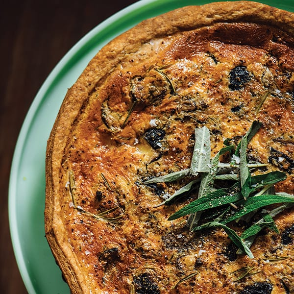 Quiche with Rosemary and Mushrooms