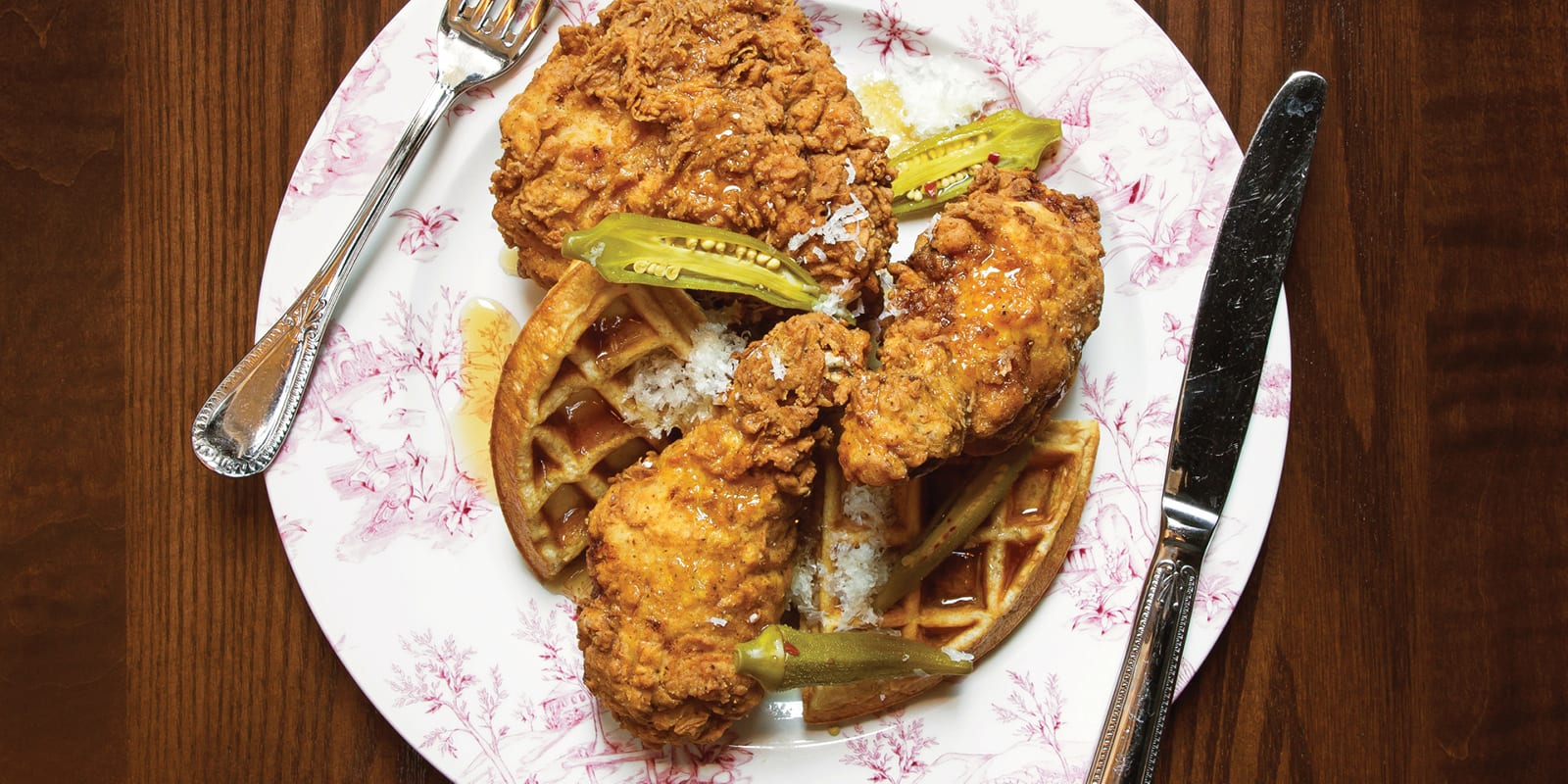 Edward Lee's Fried Chicken and Waffles