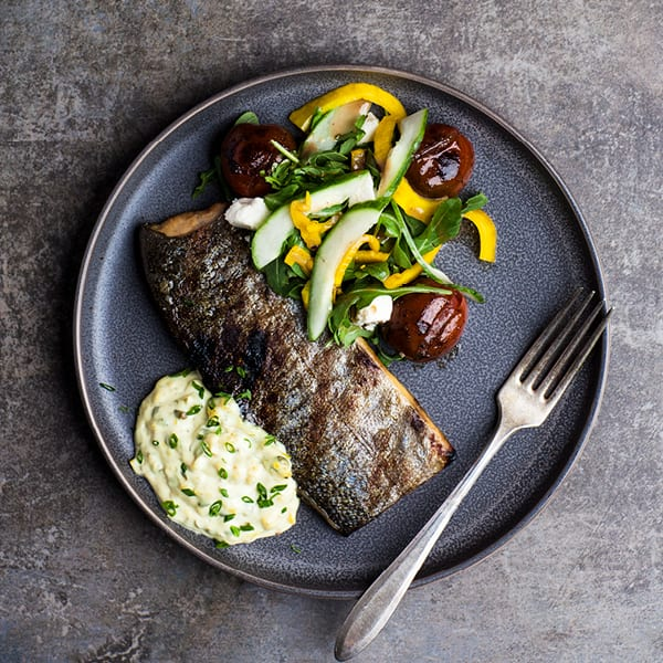 Grilled Trout with Pickled Fennel Remoulade