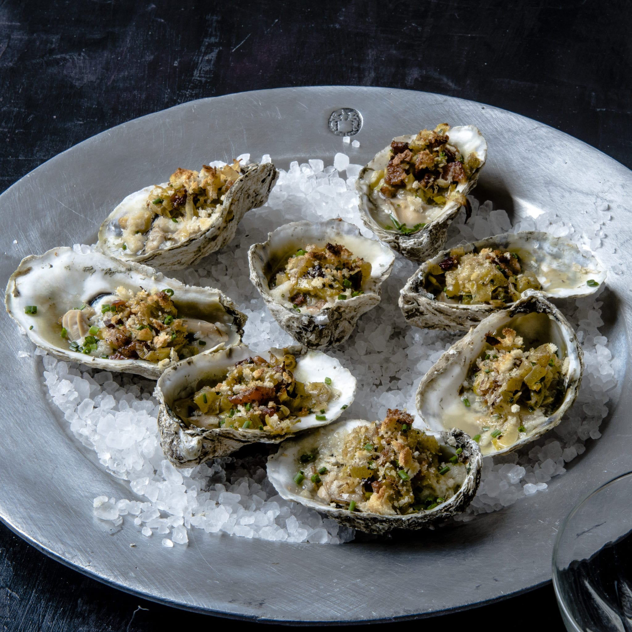 Baked Oysters with Bacon and Leeks | The Local Palate | The