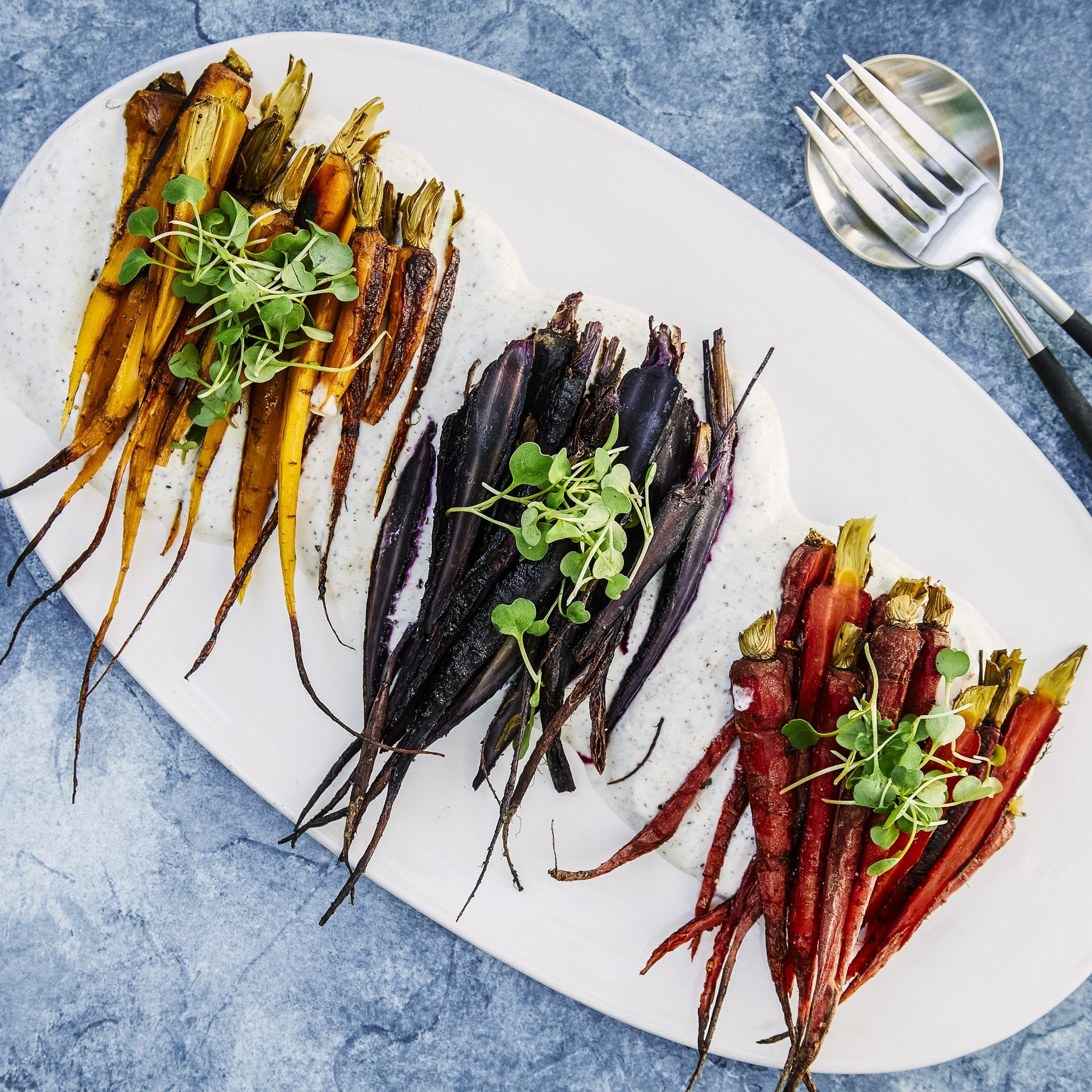 Roasted Carrots with Sumac Yogurt