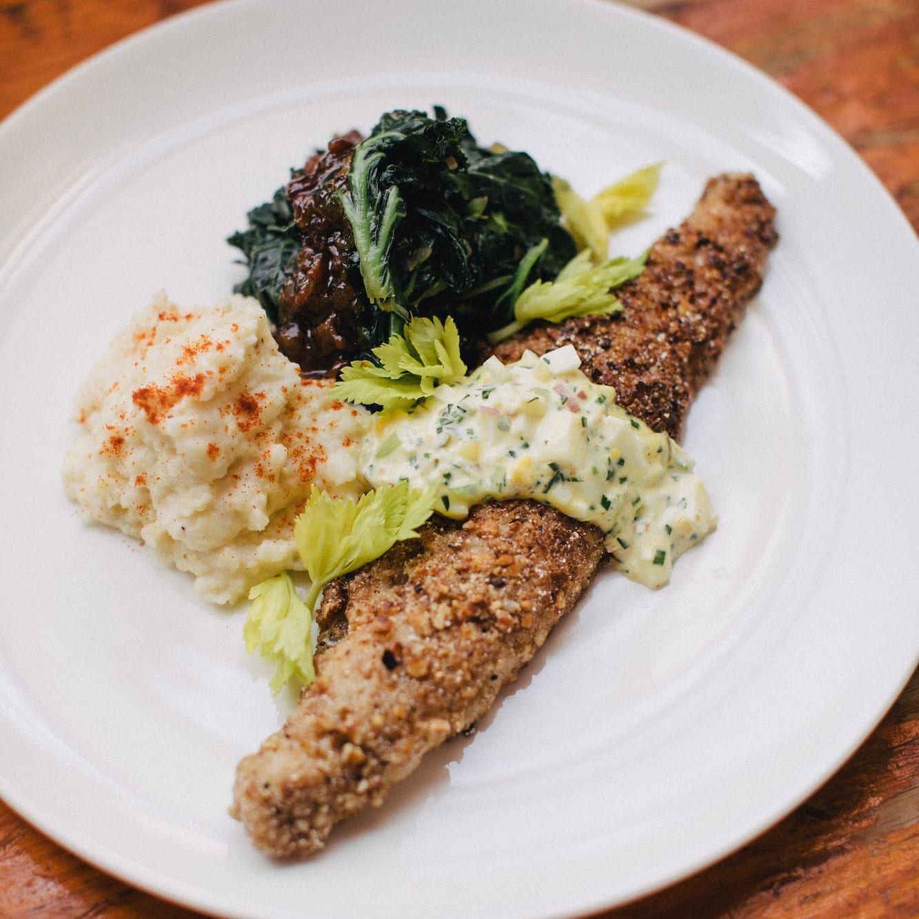 Pecan-Crusted Trout with Holly Hill Inn Cheese Grits