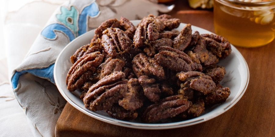 spiced candied pecans
