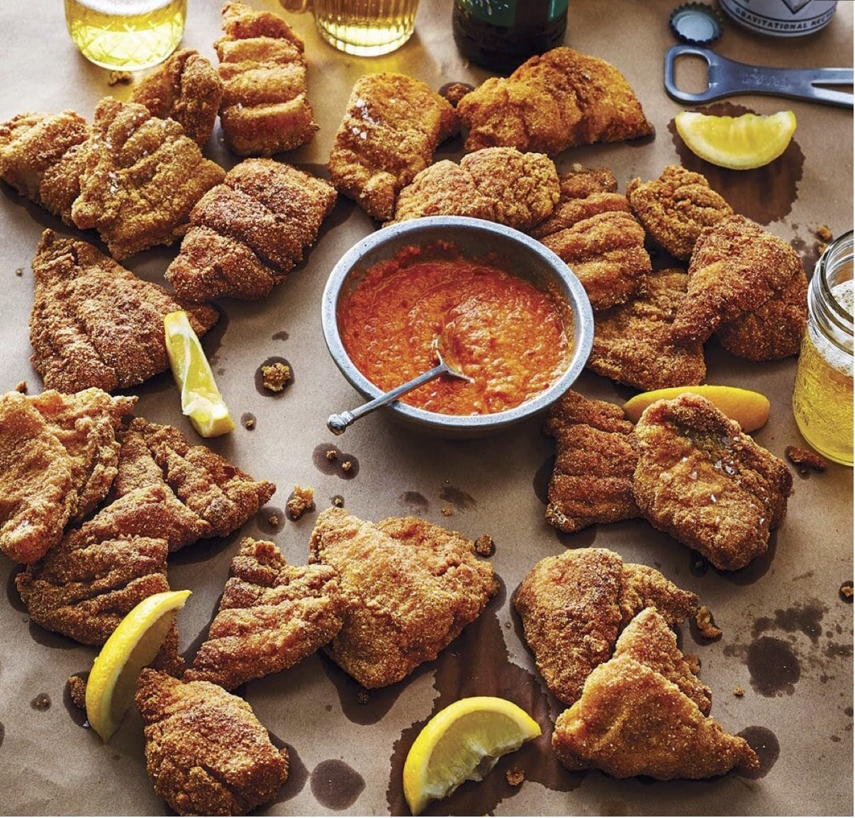 Mom's Fried Catfish with Hot Sauce