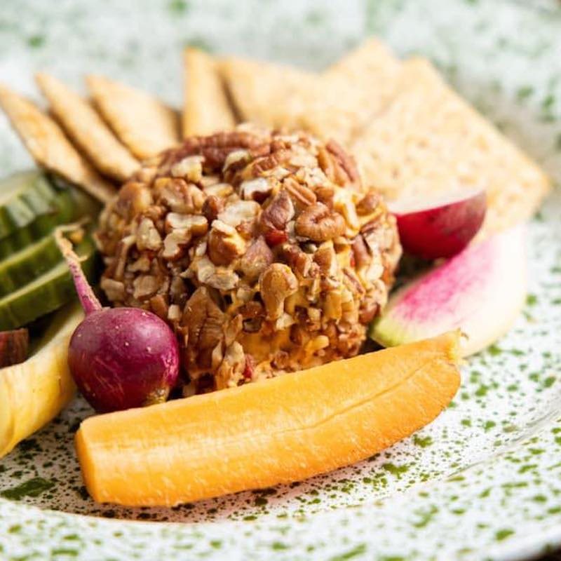 Whipped Pimento Beer Cheese Ball